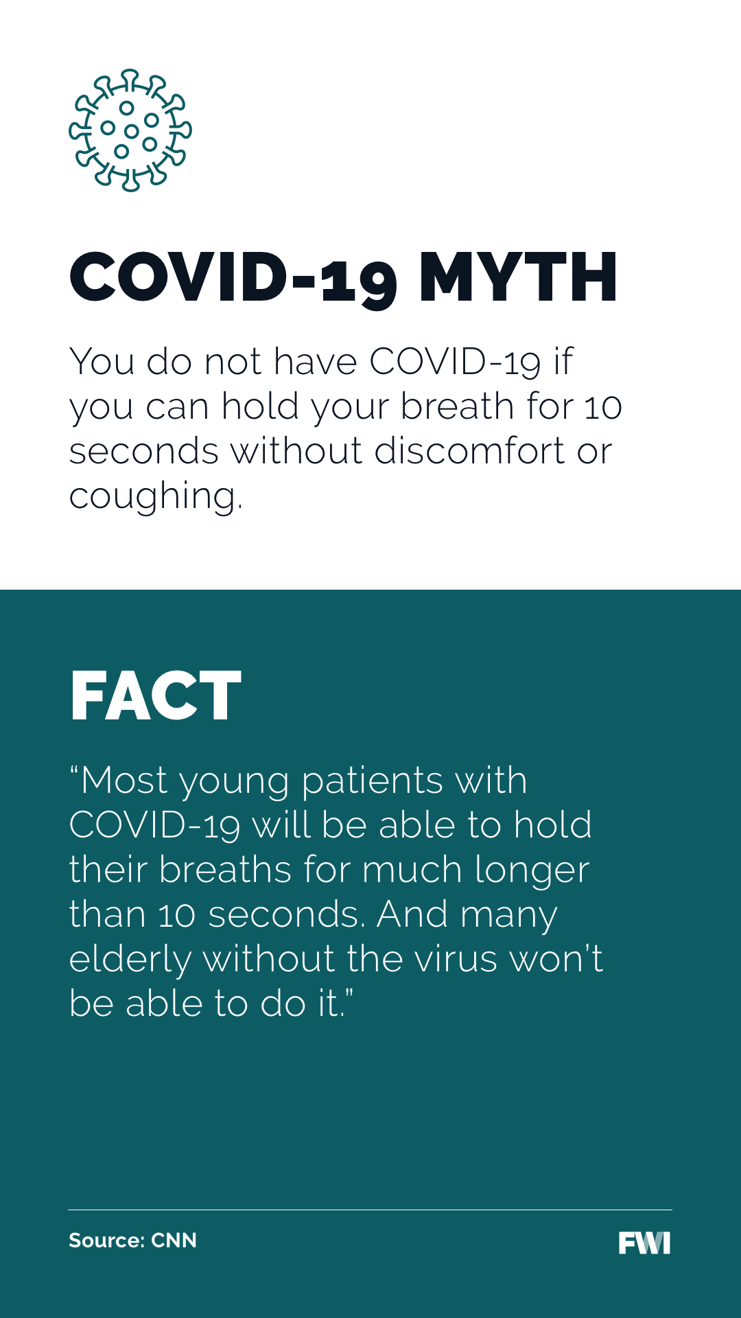 Facts about COVID symptoms vertical content download