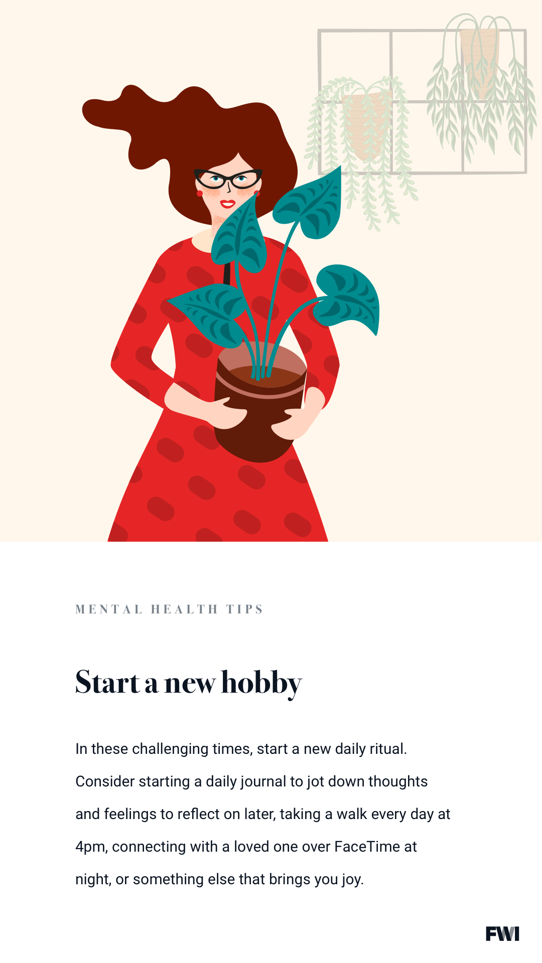 starting a hobby mental health tip vertical content download