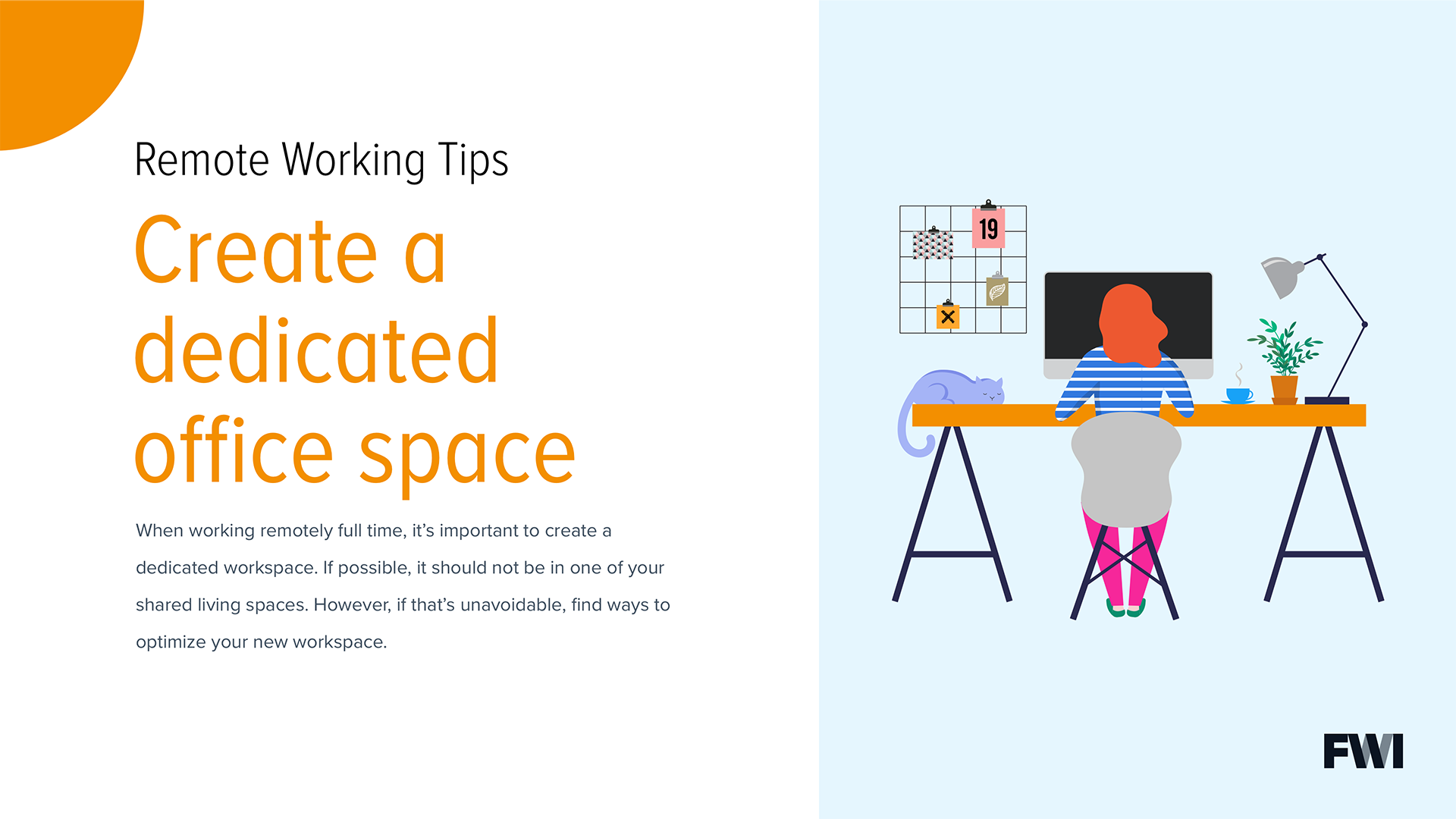 Creating a dedicated space horizontal content download