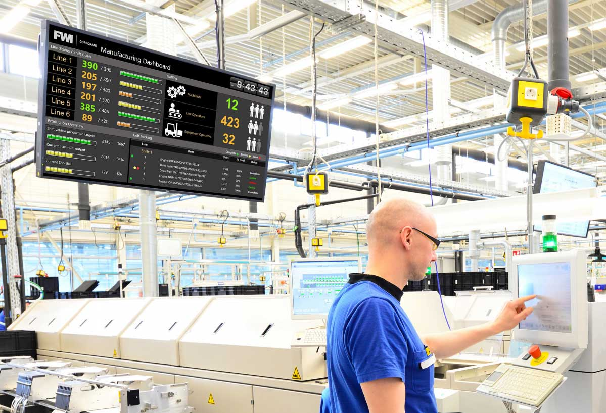 digital signage in manufacturing facility