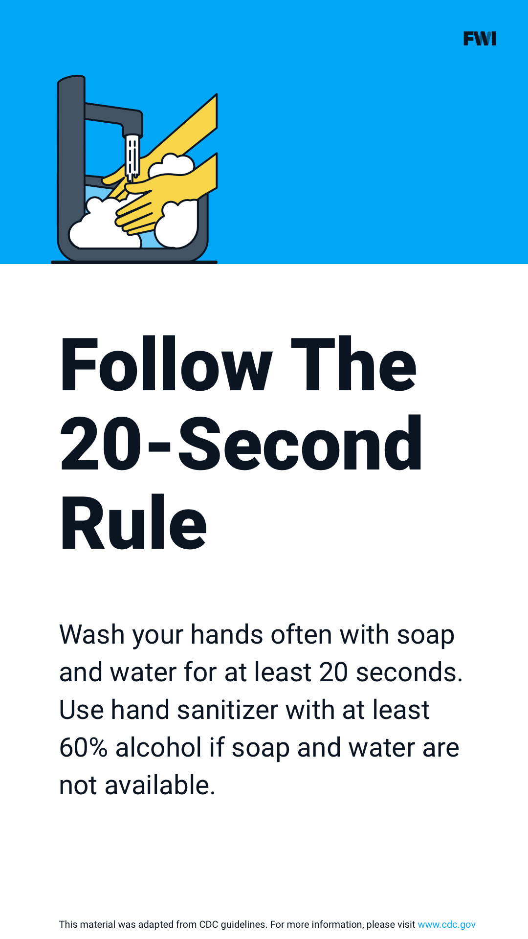 Hand washing tip vertical content download