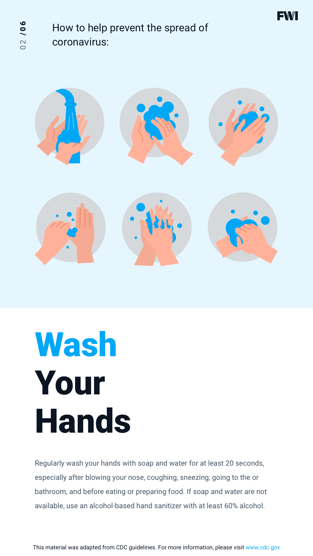 COVID prevention wash your hands vertical content download