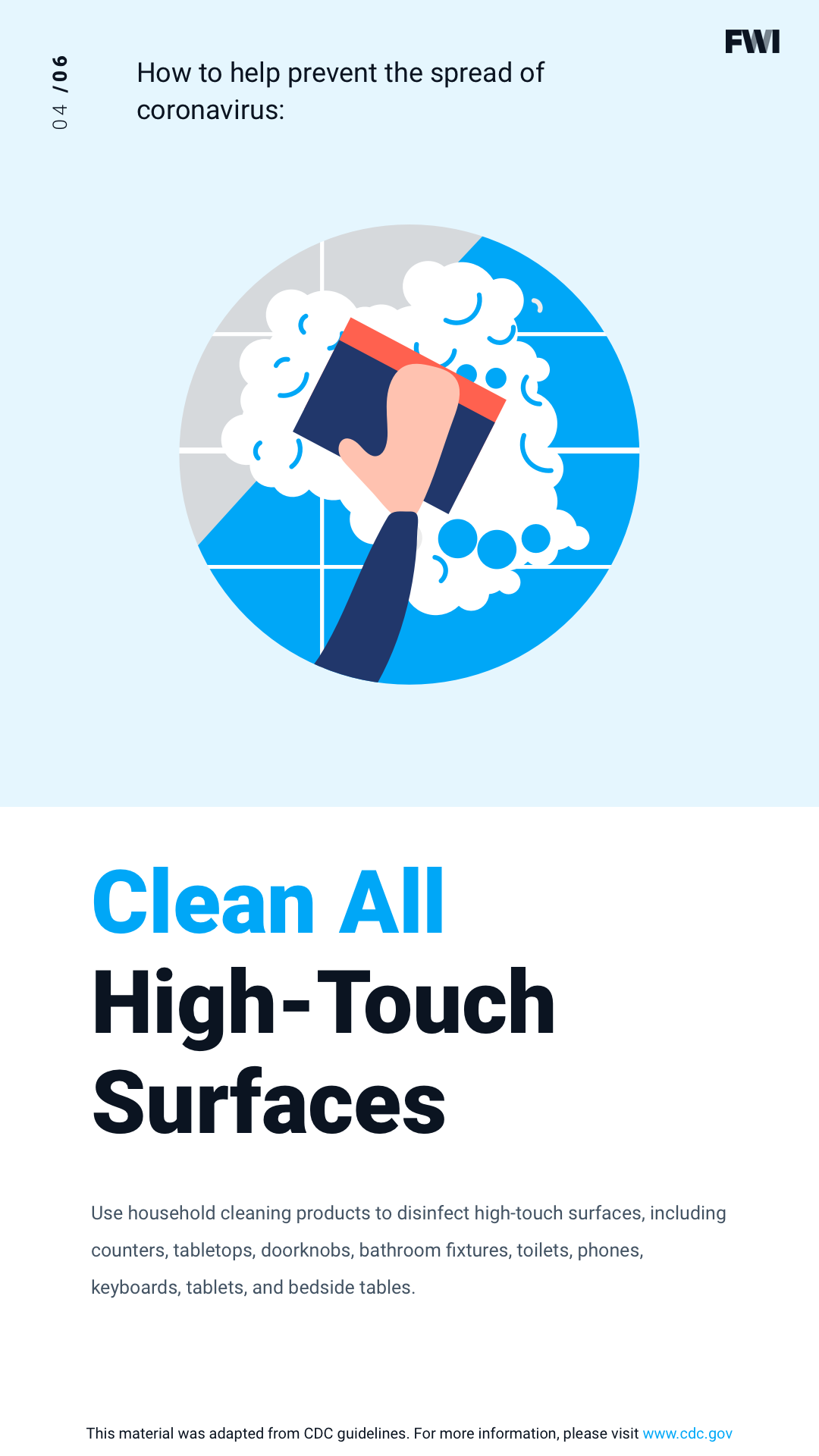 COVID prevention clean all high-touch surfaces vertical content download