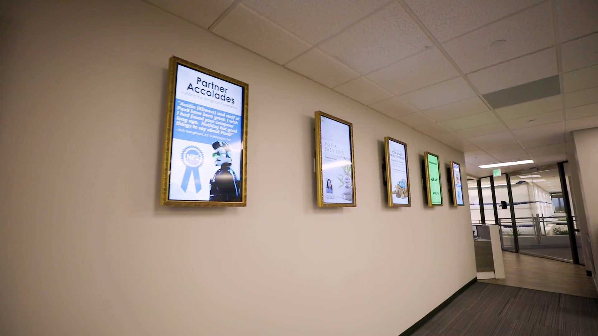 pax8 using fwi's office digital signage software